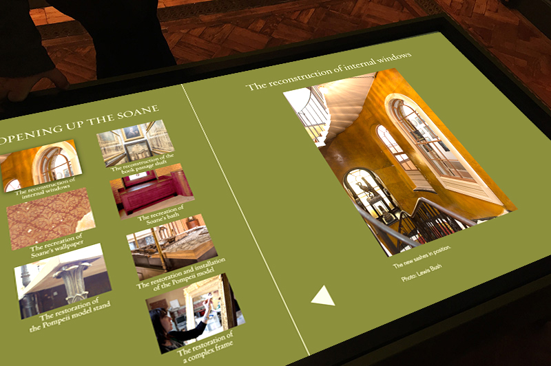 Soane Museum Touch screen