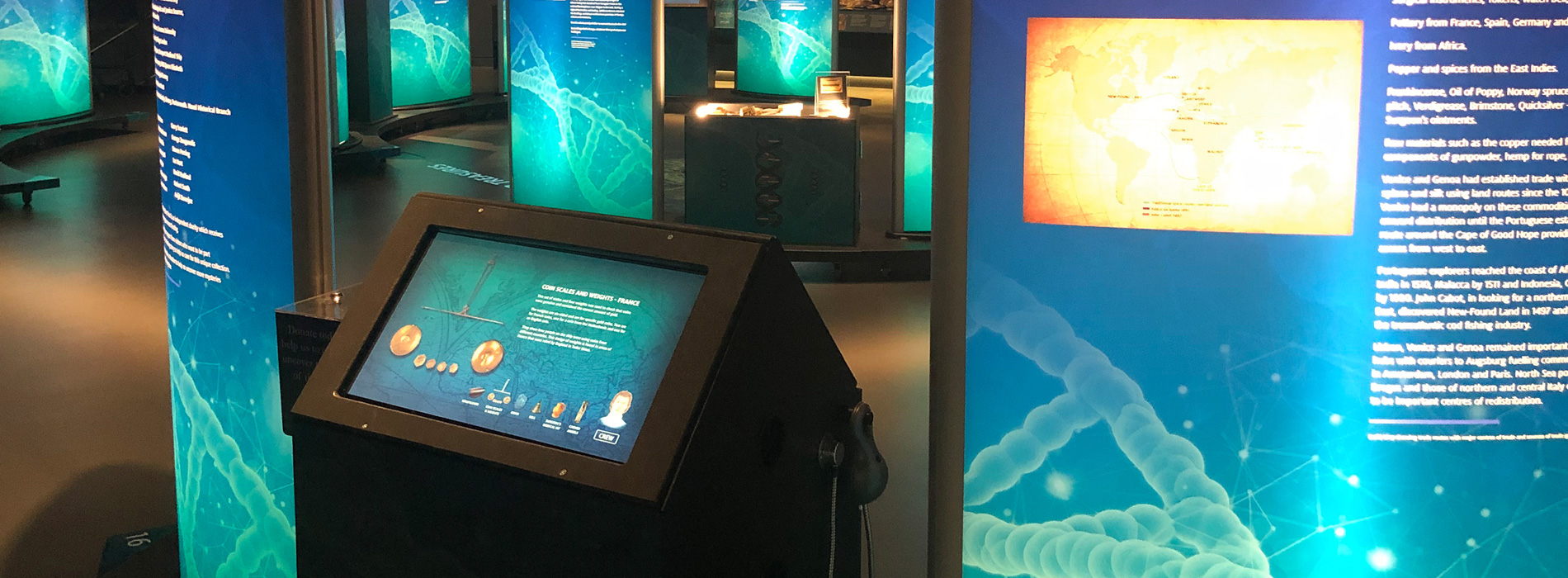 Mary Rose Museum Touch Screen