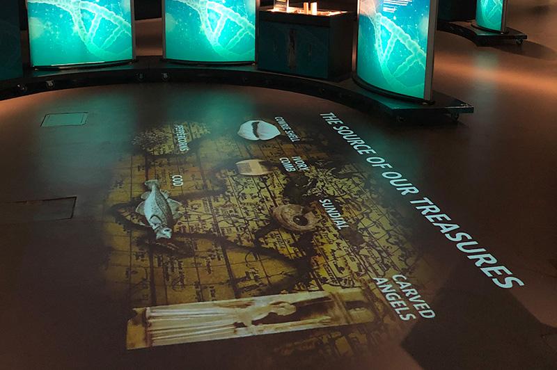 video projection museum interpretation