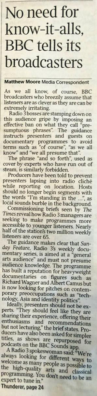BBC tone
